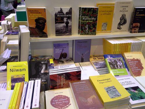 Stand Livres et Auteurs du Bassin du Congo. Salon du Livre de Paris 2014.