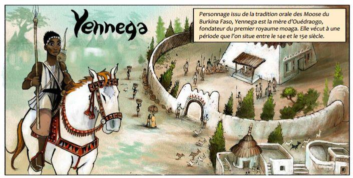 Imagen-del-cómic-dedicado-a-Yennega-la-guerrera-burkinesa